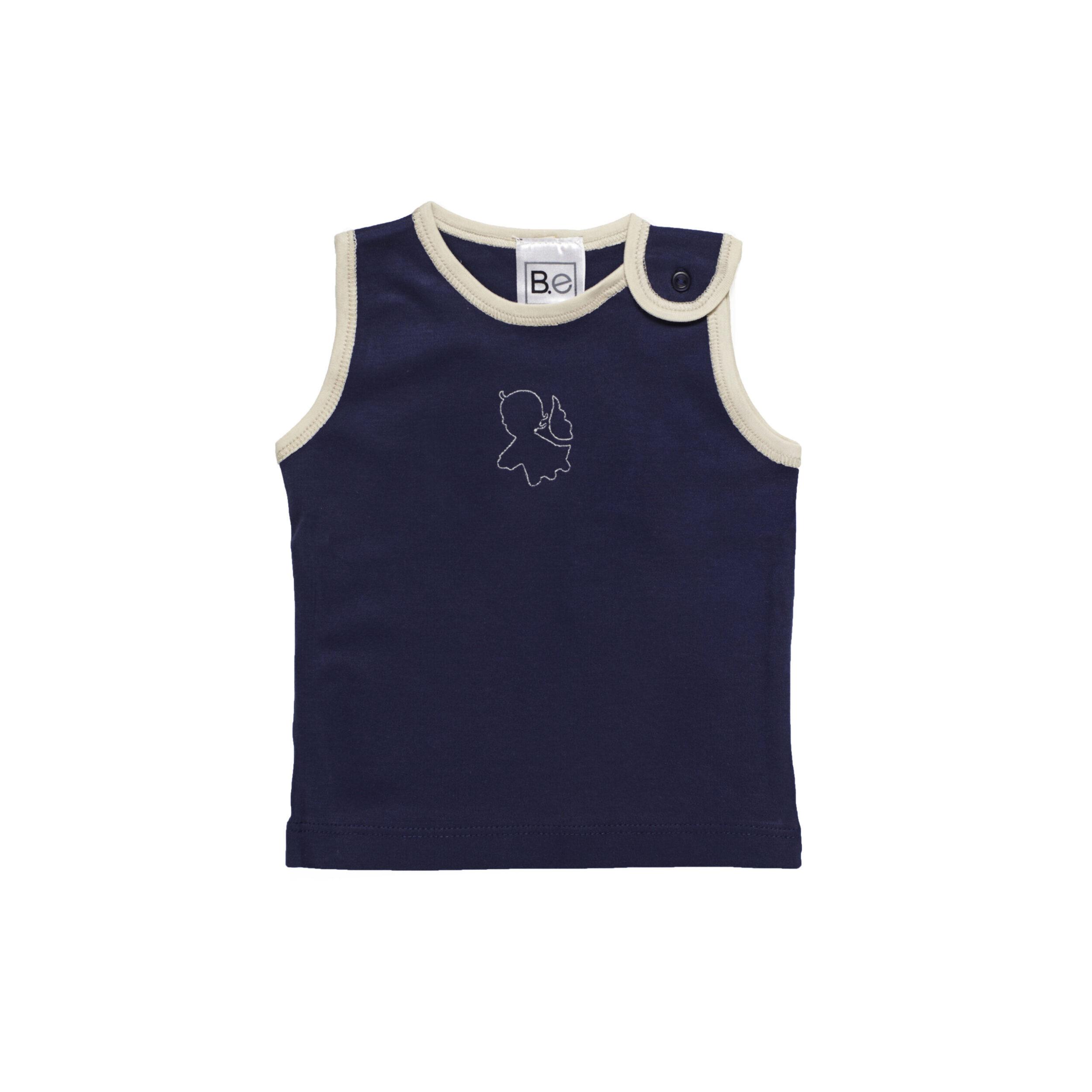 sleeveless tshirt baby organic pima cotton slowfashion quality blue