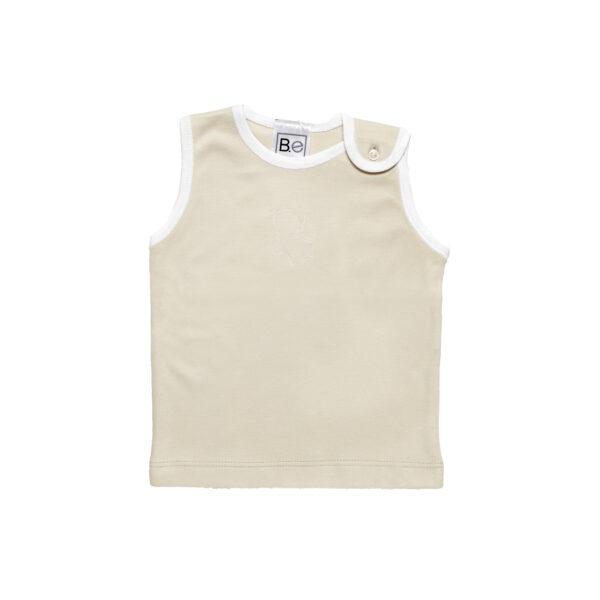 sleeveless tshirt baby organic pima cotton slowfashion quality sand