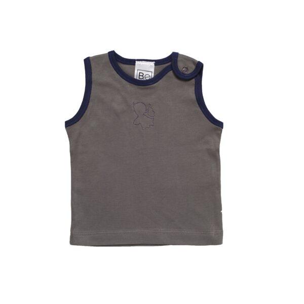 sleeveless tshirt baby organic pima cotton slowfashion quality grey taupe