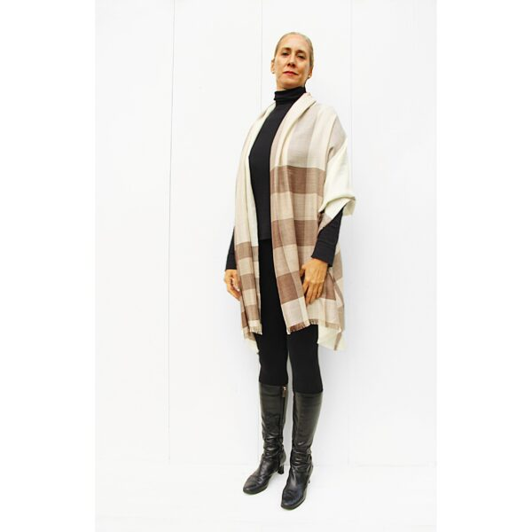 Light Stole Alpaca & Silk- Checks