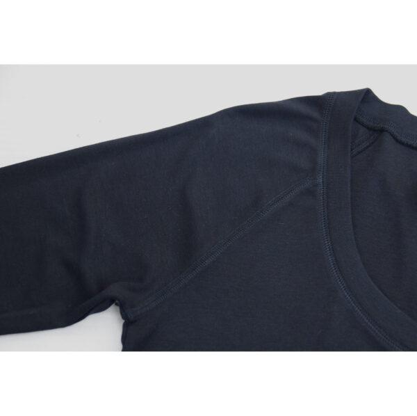 V-Neck Long Sleeve Top in Organic Pima