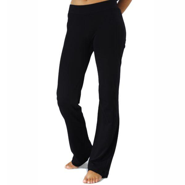 straight jersey pant organic pima cotton slowfashion quality black