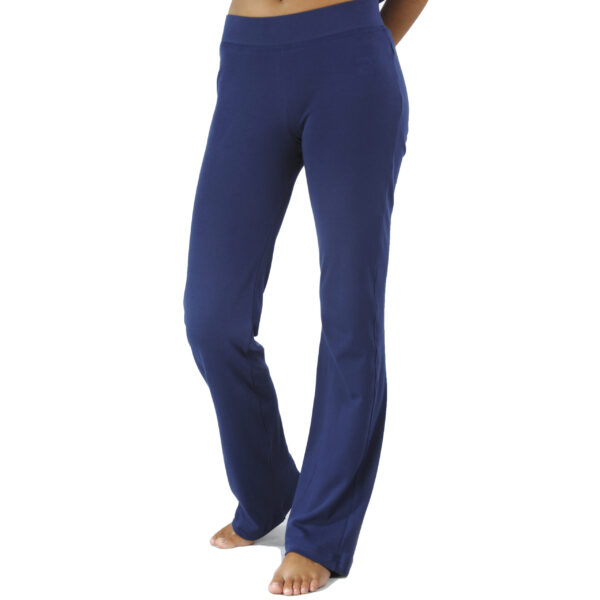 straight jersey pant organic pima cotton slowfashion quality blue