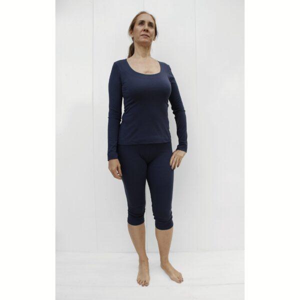 Long Sleeve Top in Organic Pima Cotton