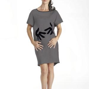 hug short sleeve dress slowfashion organic pima cotton love collection