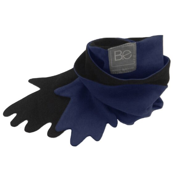 hug scarf organic pima cotton slowfashion quality black blue