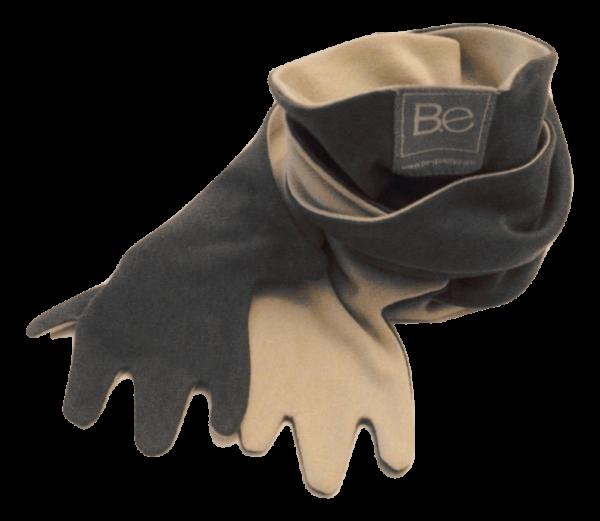 hug scarf organic pima cotton slowfashion quality sand grey taupe