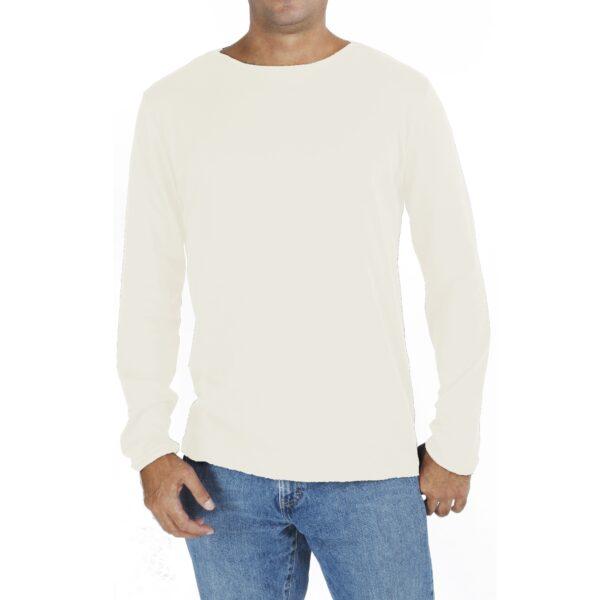 Long sleeve boat neck organic pima cotton slowfashion quality