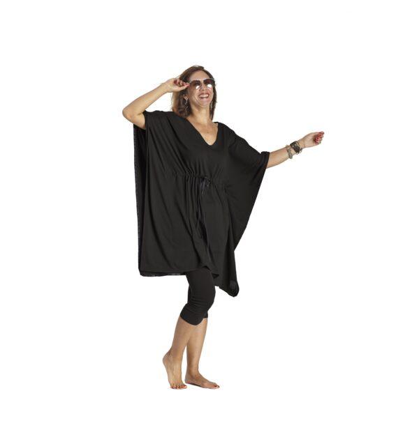 One Size Adjustable Square dress organic pima cotton slowfashion quality black