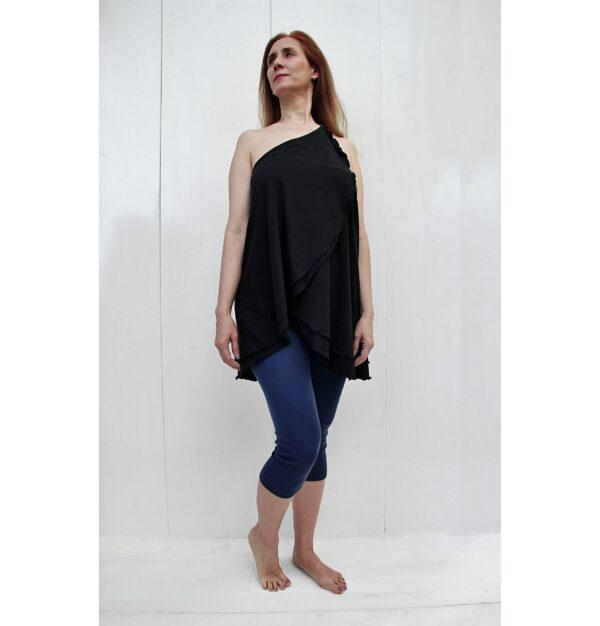 versatile top skirt organic pima cotton slowfashion quality black
