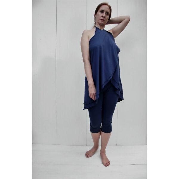 versatile top skirt organic pima cotton slowfashion quality blue