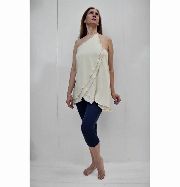 versatile top skirt organic pima cotton slowfashion quality sand