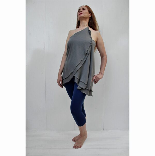 versatile top skirt organic pima cotton slowfashion quality grey taupe
