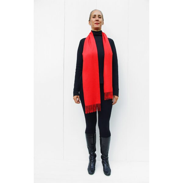 baby alpaca Scarf RED made in Perú quality