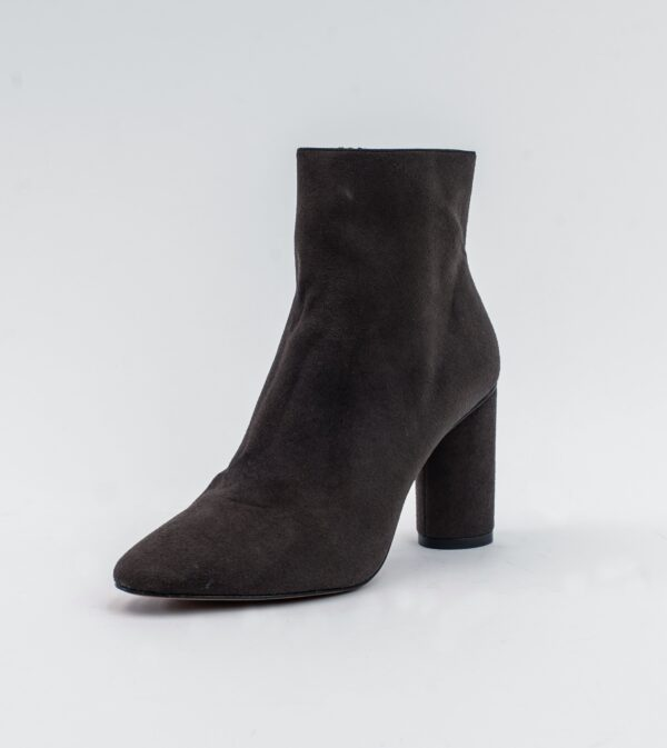 Isabella Brown Vegan Suede Heeled Ankle Boot