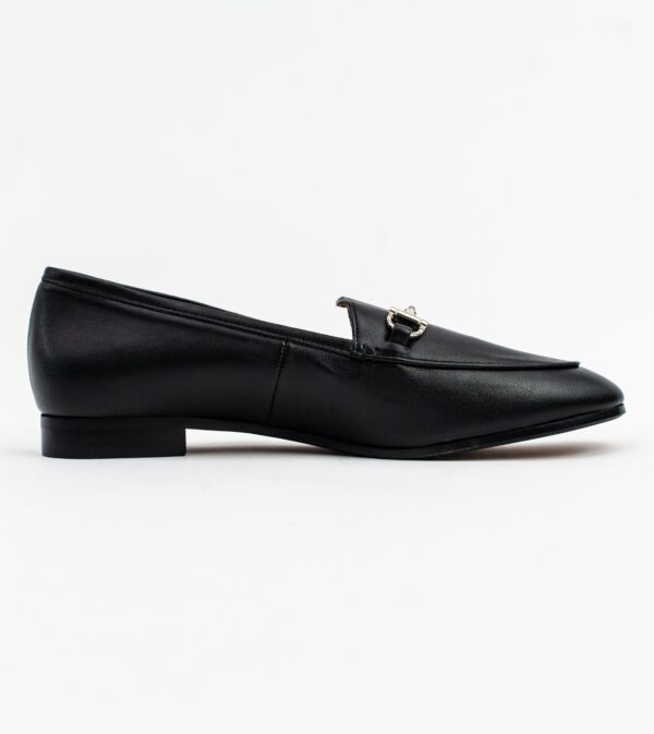Jessica Black Vegan Leather Snaffle Loafer