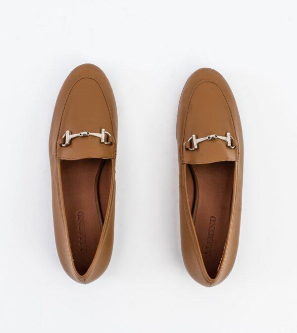 Jessica Camel Vegan Leather Snaffle Loafer