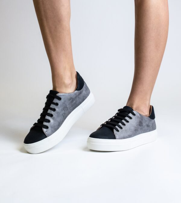 Lucy Grey Vegan Leather Lace Trainer