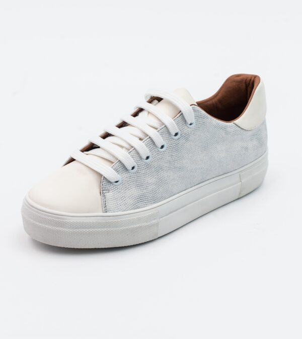 Lucy white Vegan Leather Lace Trainer