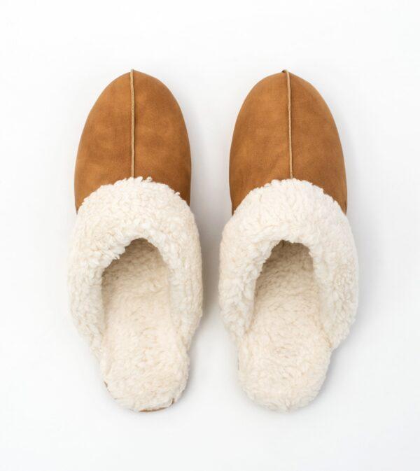 Slipper Tan Vegan Wool