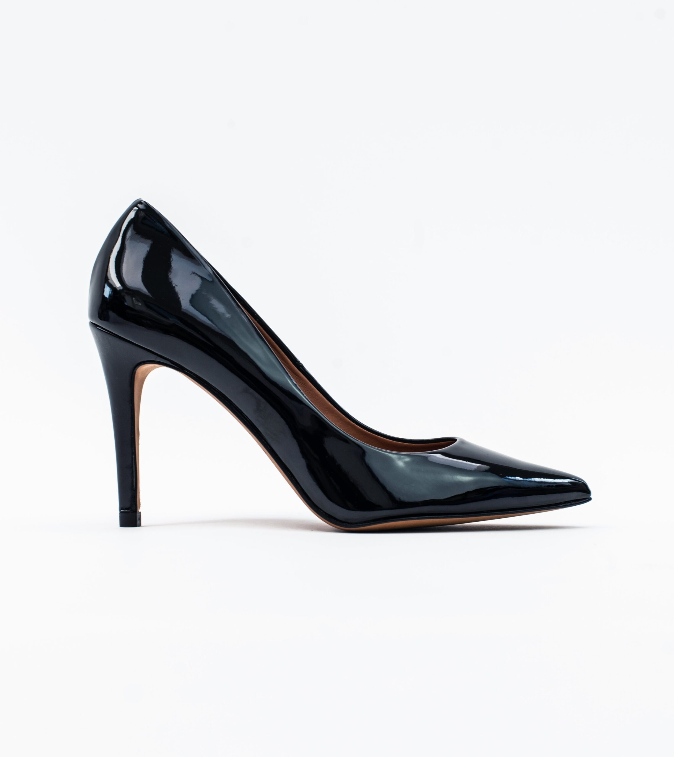Sophie Black Vegan Patent Stiletto Court