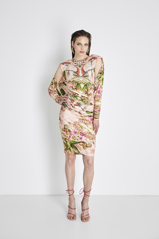 PARROT SHOULDER DRESS