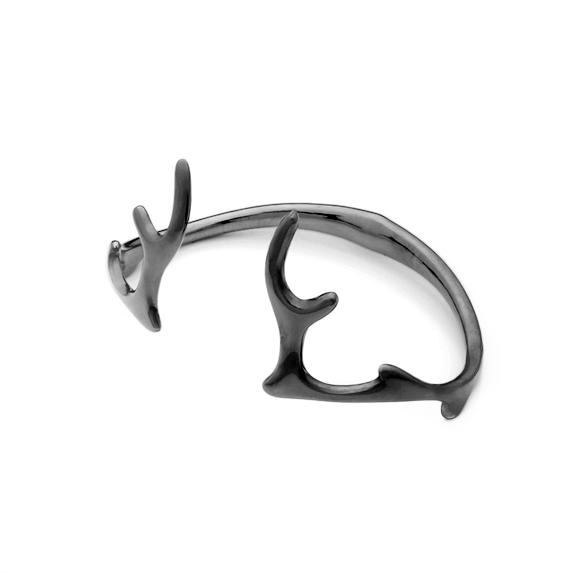 Antlers Bangle Black