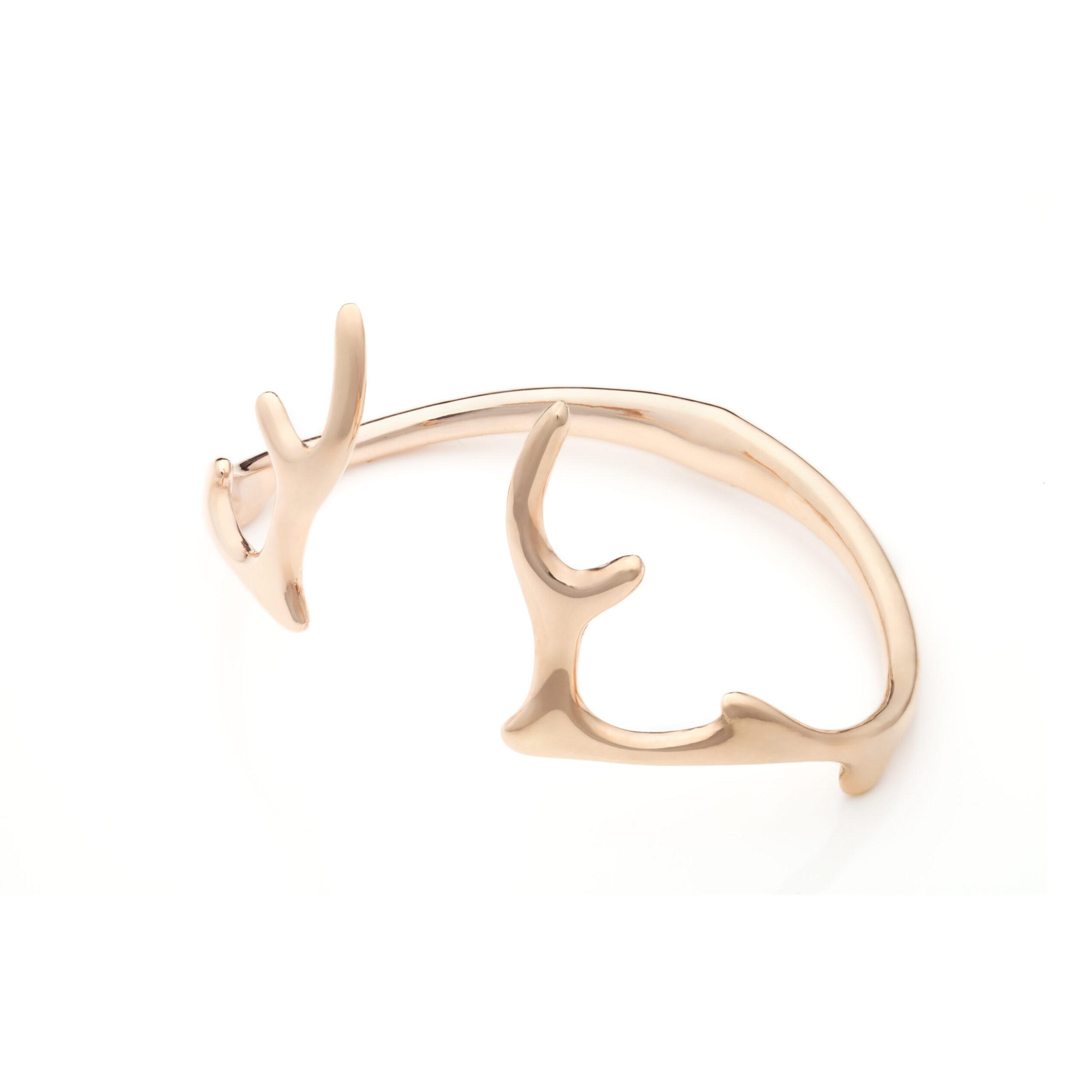 Antlers bangle golden