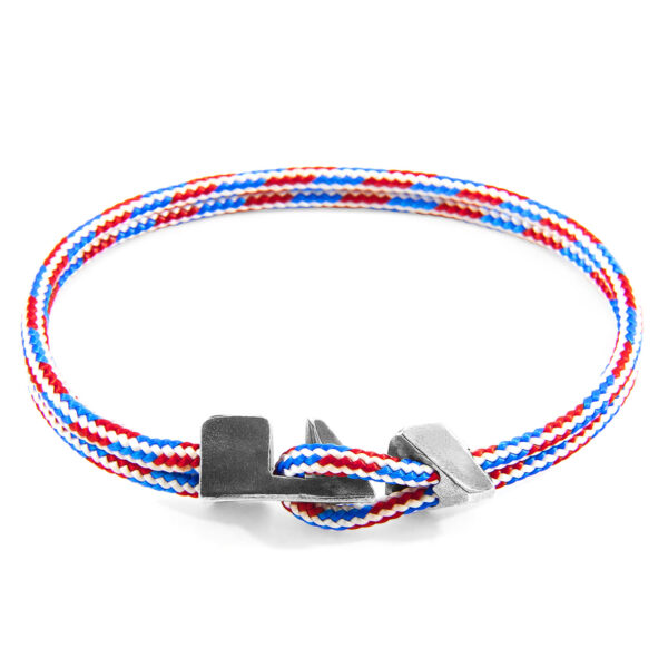 Project-RWB Red White and Blue Brixham Silver and Rope Bracelet