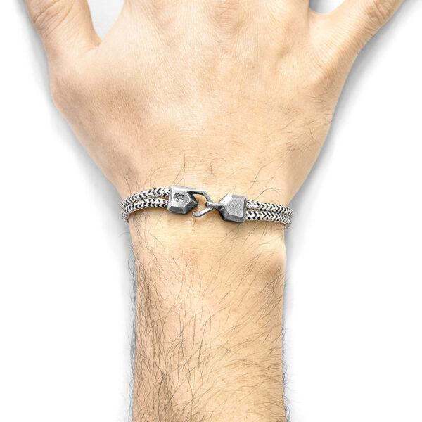 White Noir Cromer Silver and Rope Bracelet