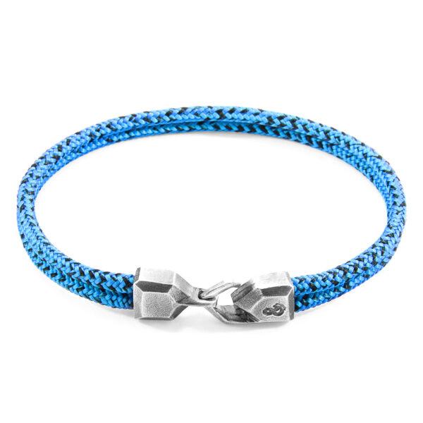 Blue Noir Cromer Silver and Rope Bracelet
