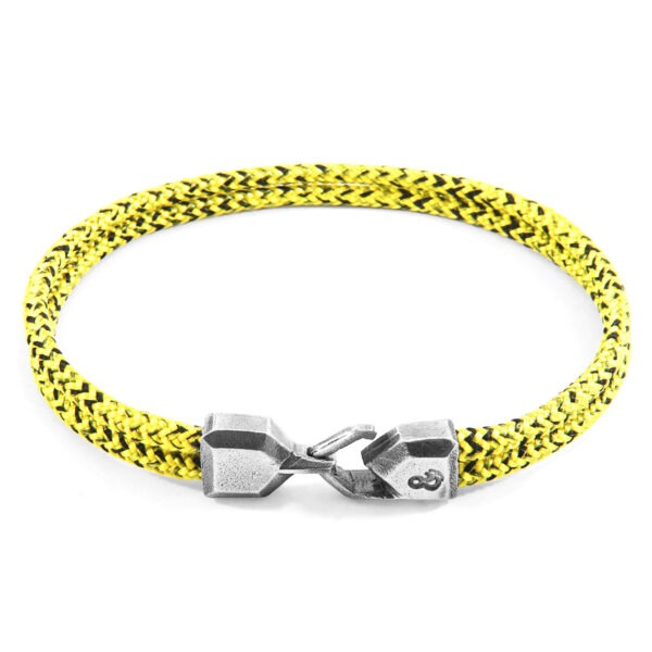 Yellow Noir Cromer Silver and Rope Bracelet