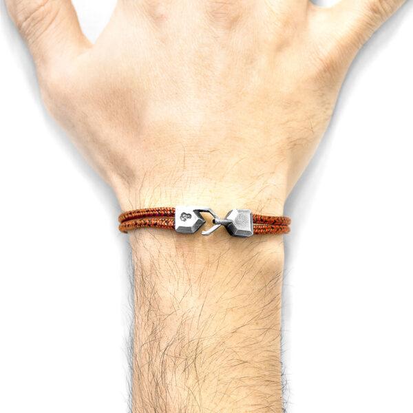 Red Noir Cromer Silver and Rope Bracelet