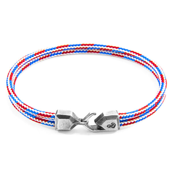 Project-RWB Red White and Blue Cromer Silver and Rope Bracelet