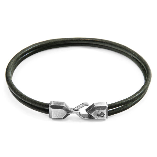 Racing Green Cromer Silver and Round Leather Bracelet