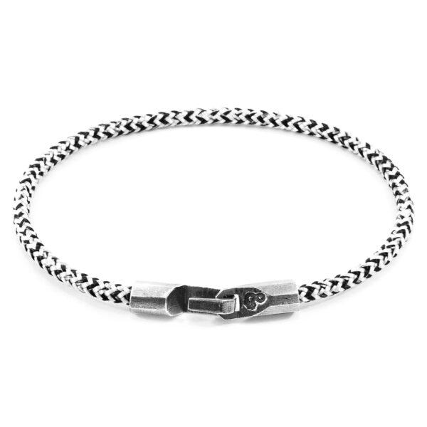 White Noir Talbot Silver and Rope Bracelet