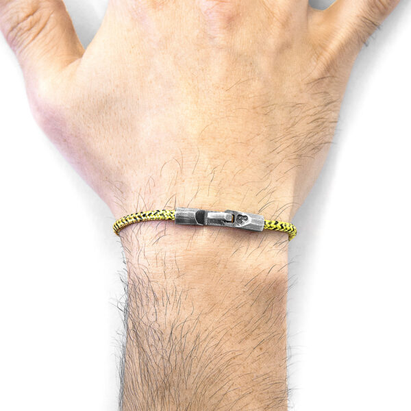 Yellow Noir Talbot Silver and Rope Bracelet