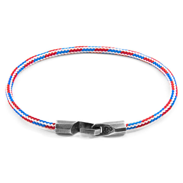 Project-RWB Red White and Blue Talbot Silver and Rope Bracelet