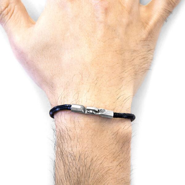 Black Talbot Silver and Rope Bracelet