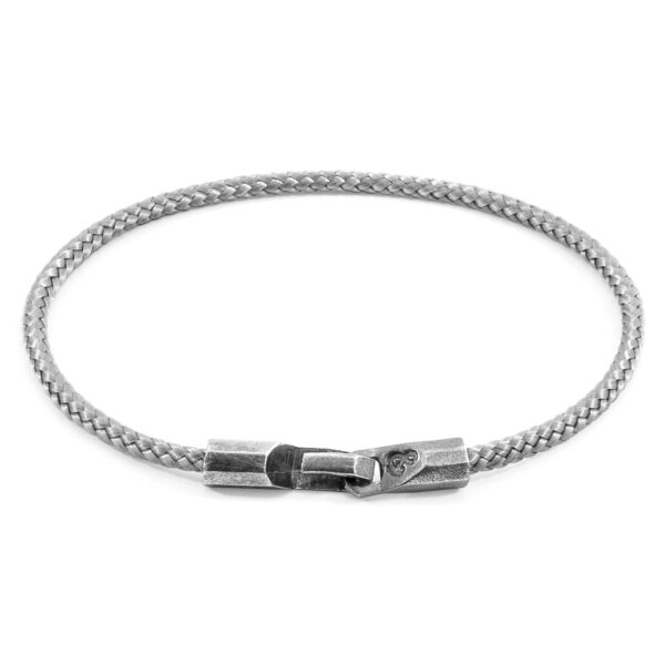Classic Grey Talbot Silver and Rope Bracelet