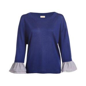 Blue silk cashmere