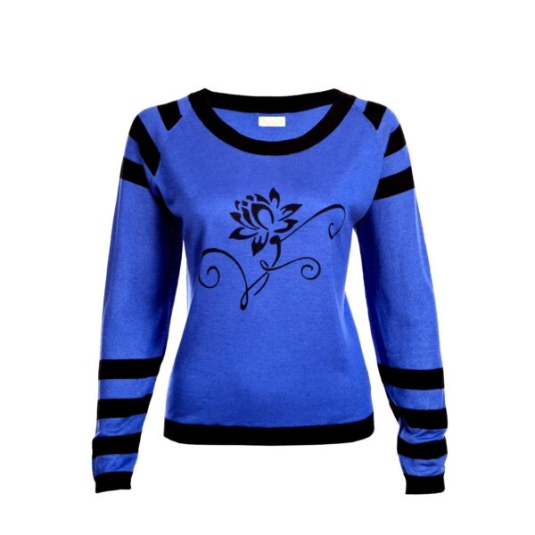 Blue Lotus Sweater in Silk and Cashmere mix