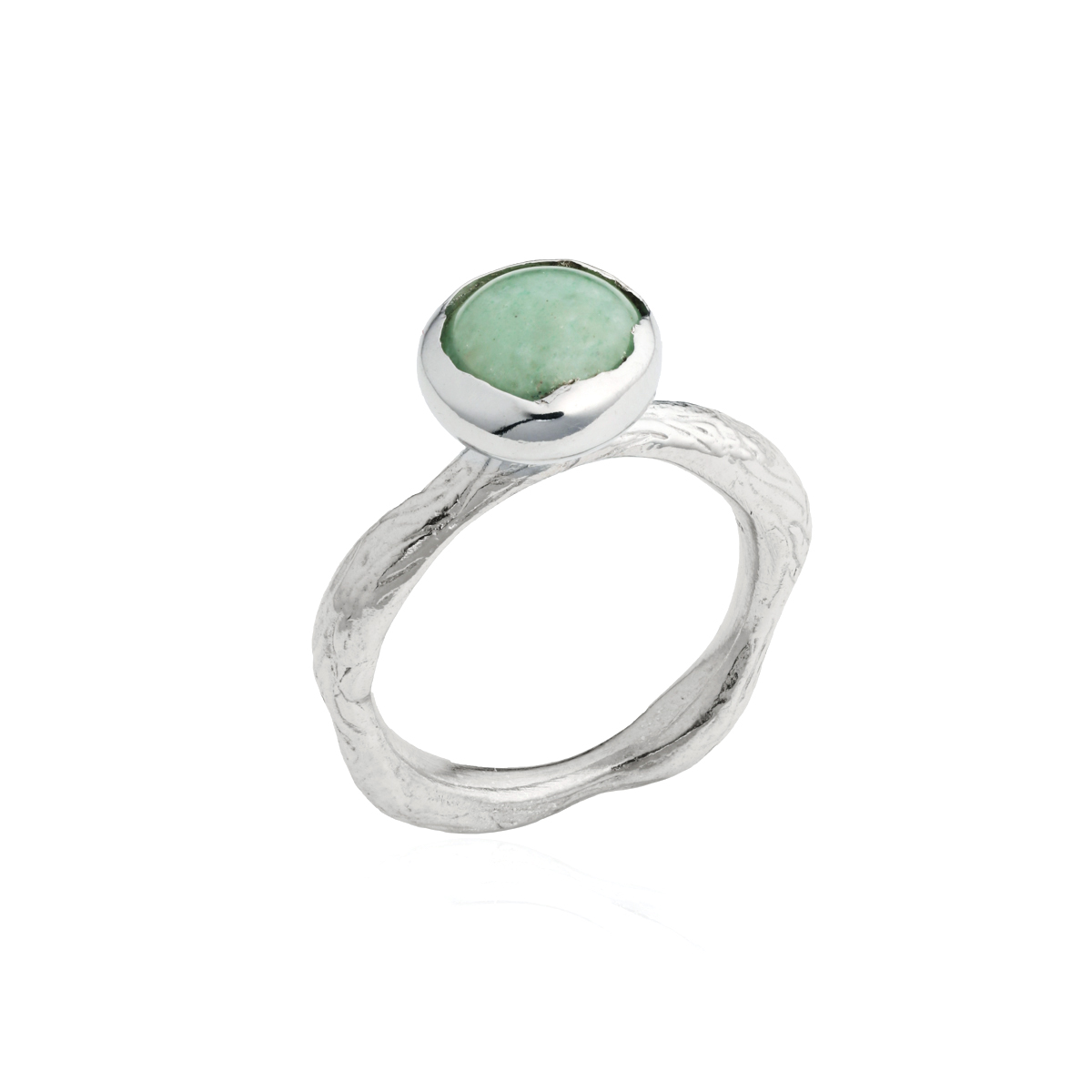 BLOSSOM bud ring with green Aventurine