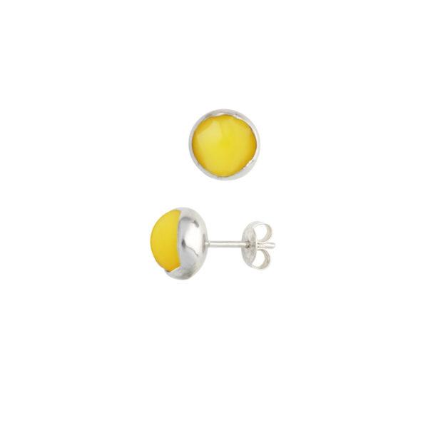 BLOSSOM bud earrings with egg yolk amber