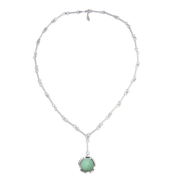 BLOSSOM collier with green aventurine