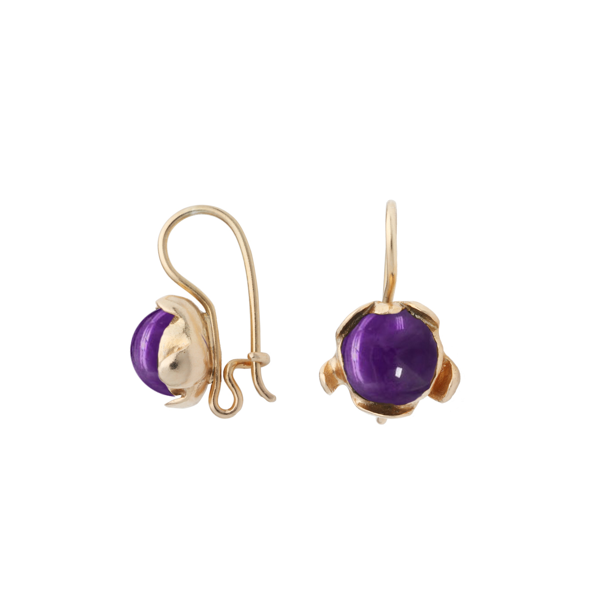 BLOSSOM hook earrings with Amethyst