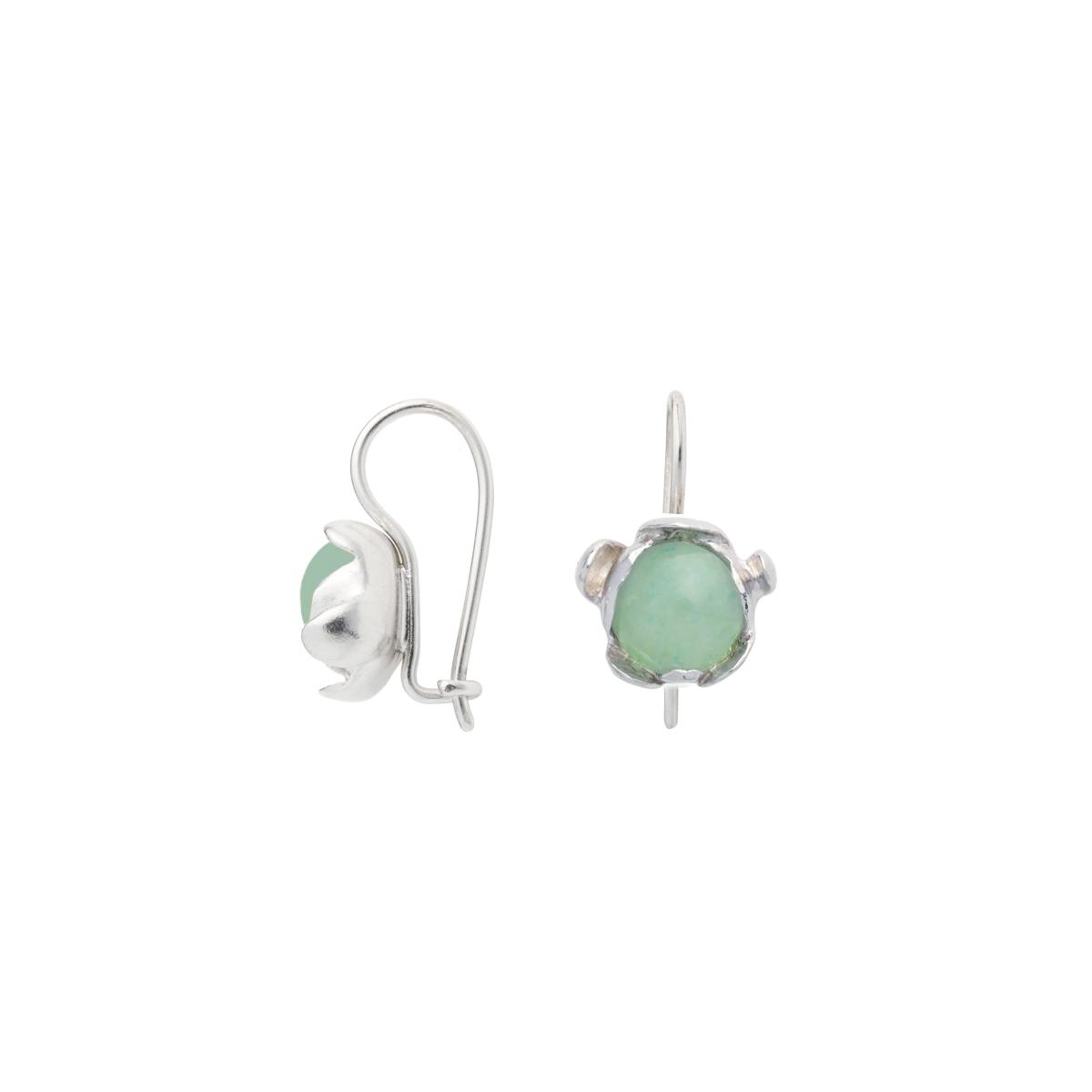 BLOSSOM hook earrings with green aventurine