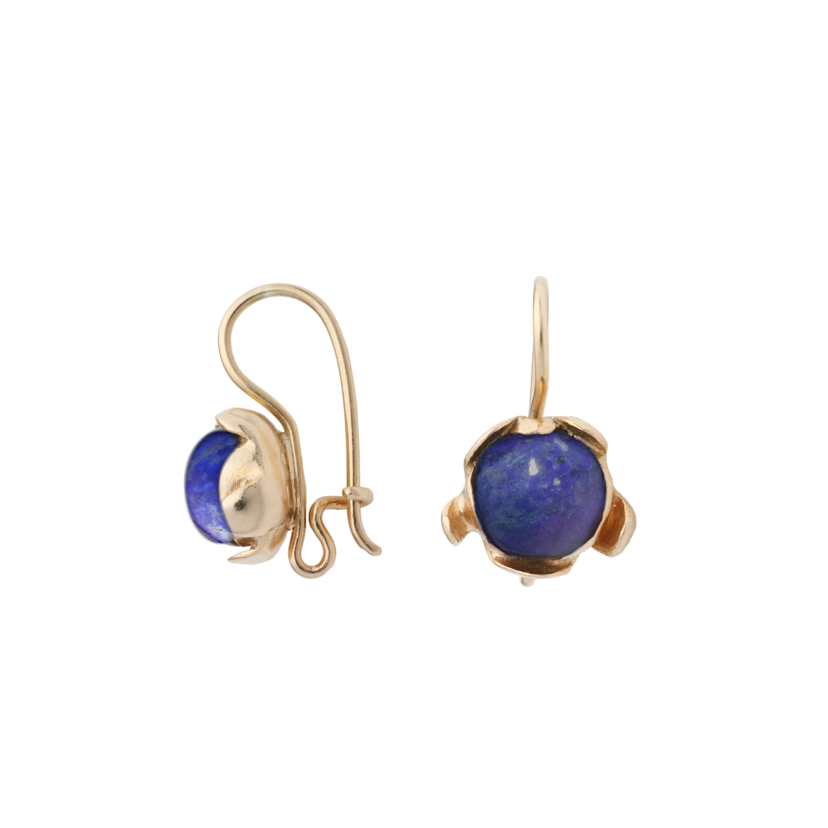BLOSSOM hook earrings with lapis lazuli
