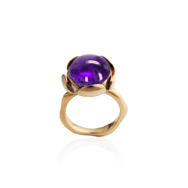 Blossom large ring with Amethyst