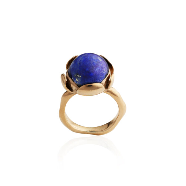 BLOSSOM large ring with Lapis Lazuli
